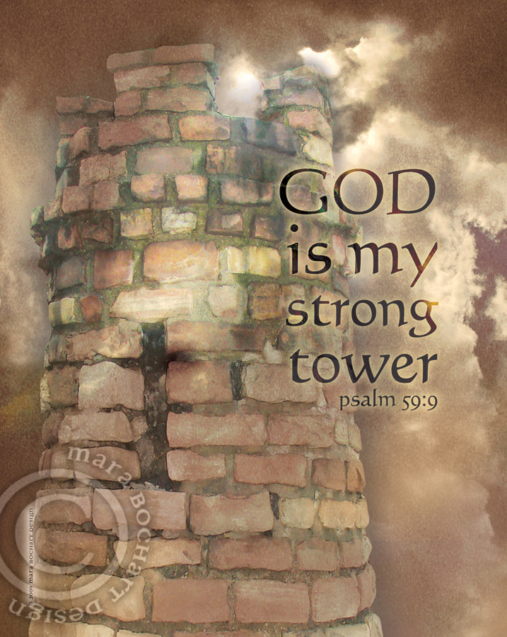 Strong Tower - notecard
