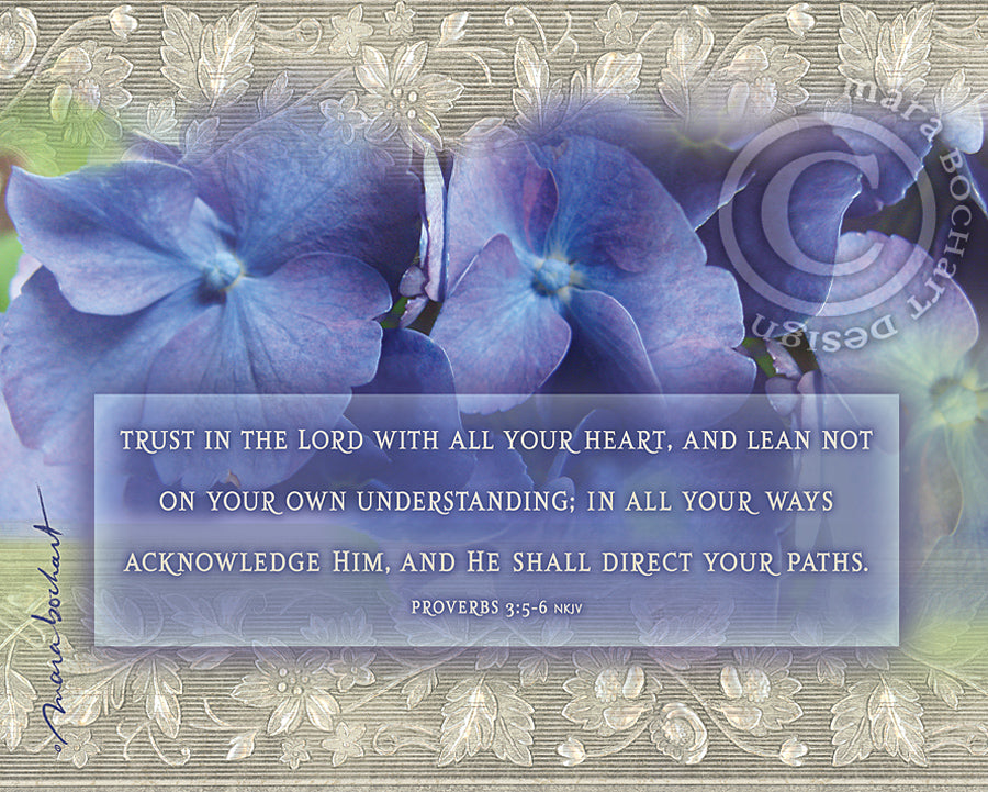 Trust in the Lord - notecard