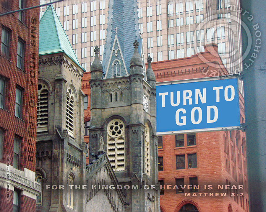 Turn to God - frameable print