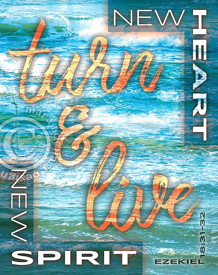 Turn & Live - frameable print