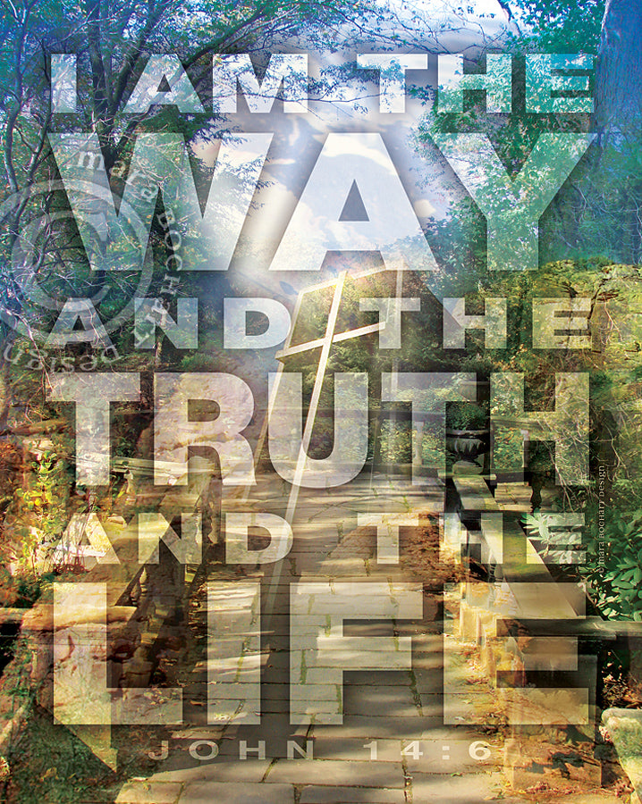Way Truth Life - frameable print