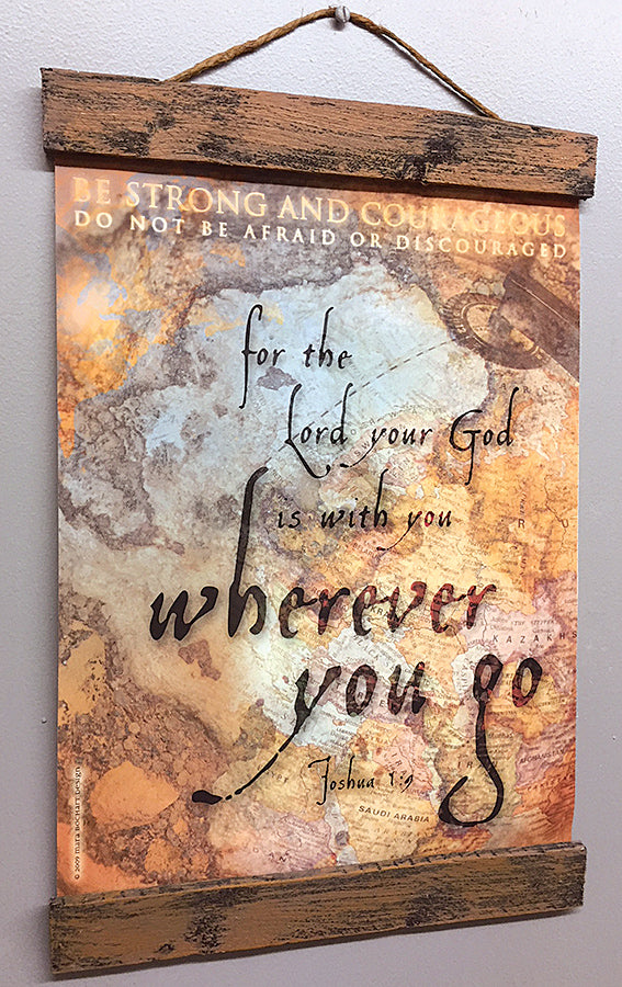 Wherever You Go - 11x14 hanging banner