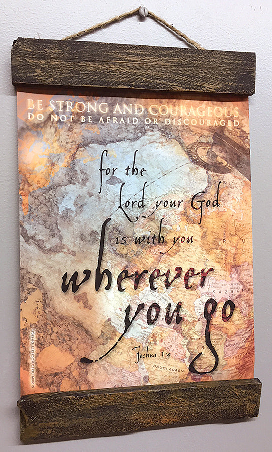 Wherever You Go - 8x10 hanging banner