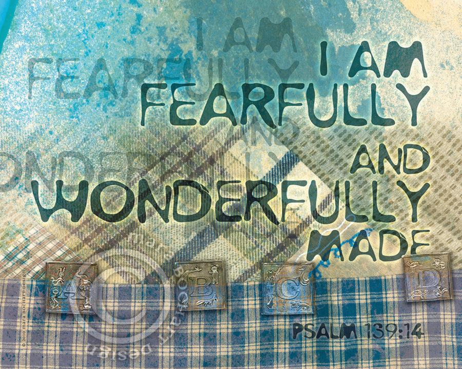 Wonderfully Made - notecard