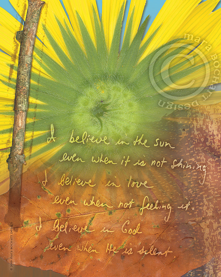 I Believe - notecard