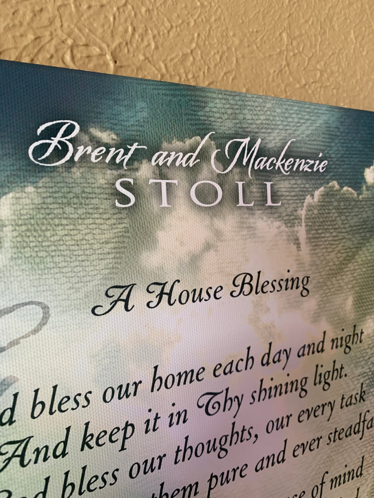 House Blessing - personalized canvas