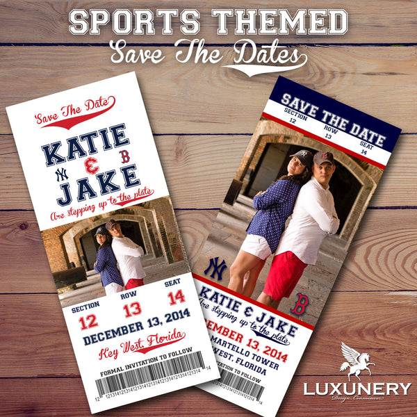 baseball save the date luxunery