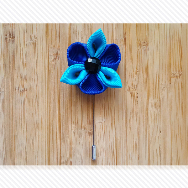 Petal Star Blue Shades Lapel