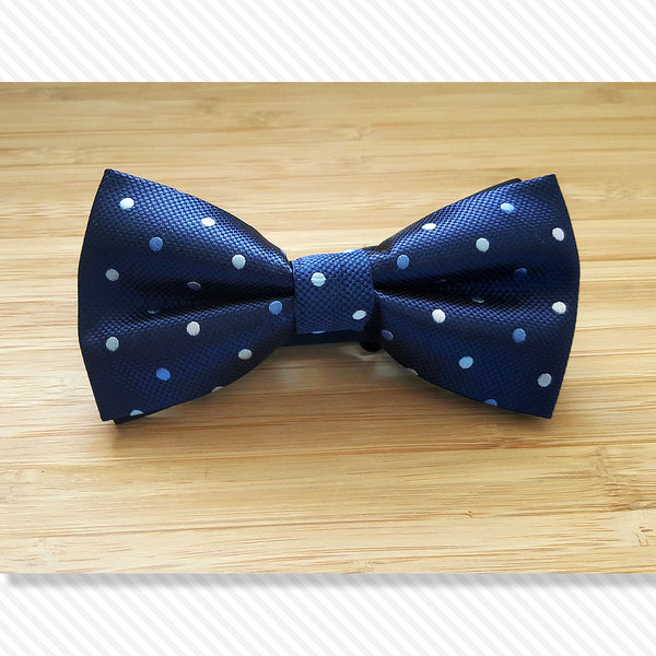 Blue Shades of Polka Bow Tie
