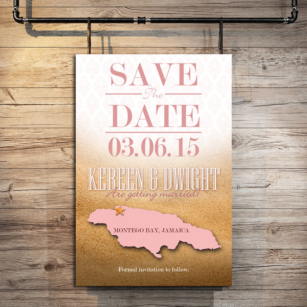 Island Style Save The Date Card