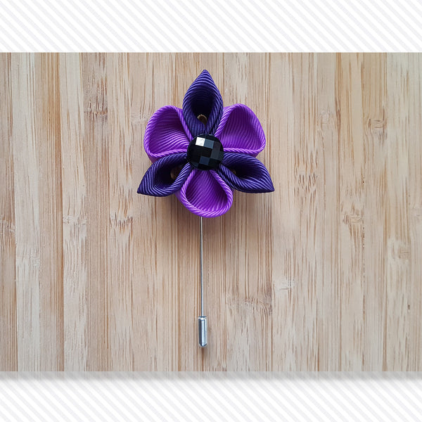 Petal Star Purple Shades Lapel