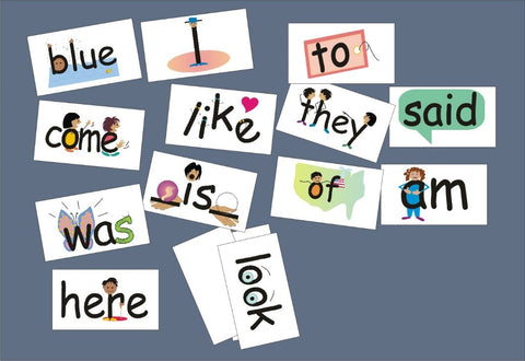 SnapWords Sight Words with pictures and movements examples of look, come, like, they, said, am, of, here, was