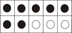 Use five frame dot cards when teaching number sense