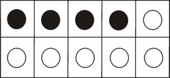 Use 5 frame dot cards when teaching math