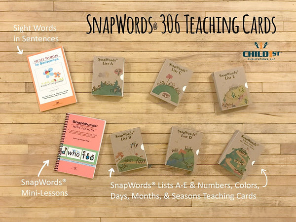 SnapWords Sight Words with pictures and movements 306 Teaching Cards