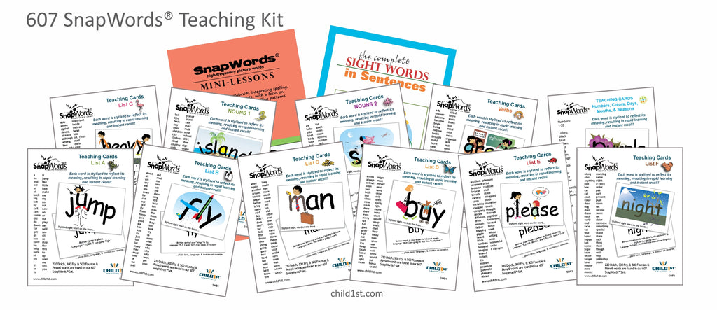 607 SnapWords® Teaching Kit sight words with pictures and movements