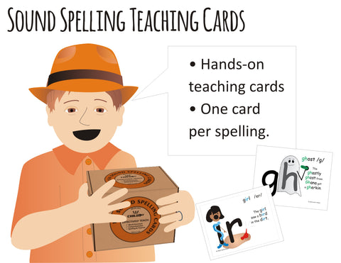 Right-brained phonics, spelling, and sounds