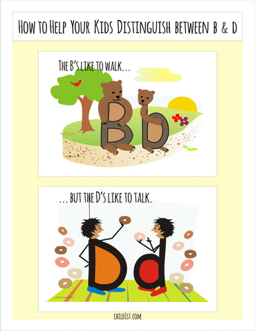 How to Help Your Child Distinguish Between B and D