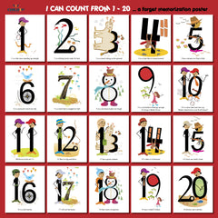 I Can Count from 1 - 20 Poster