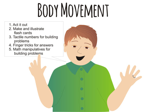 Teach multiplication and division using body movement