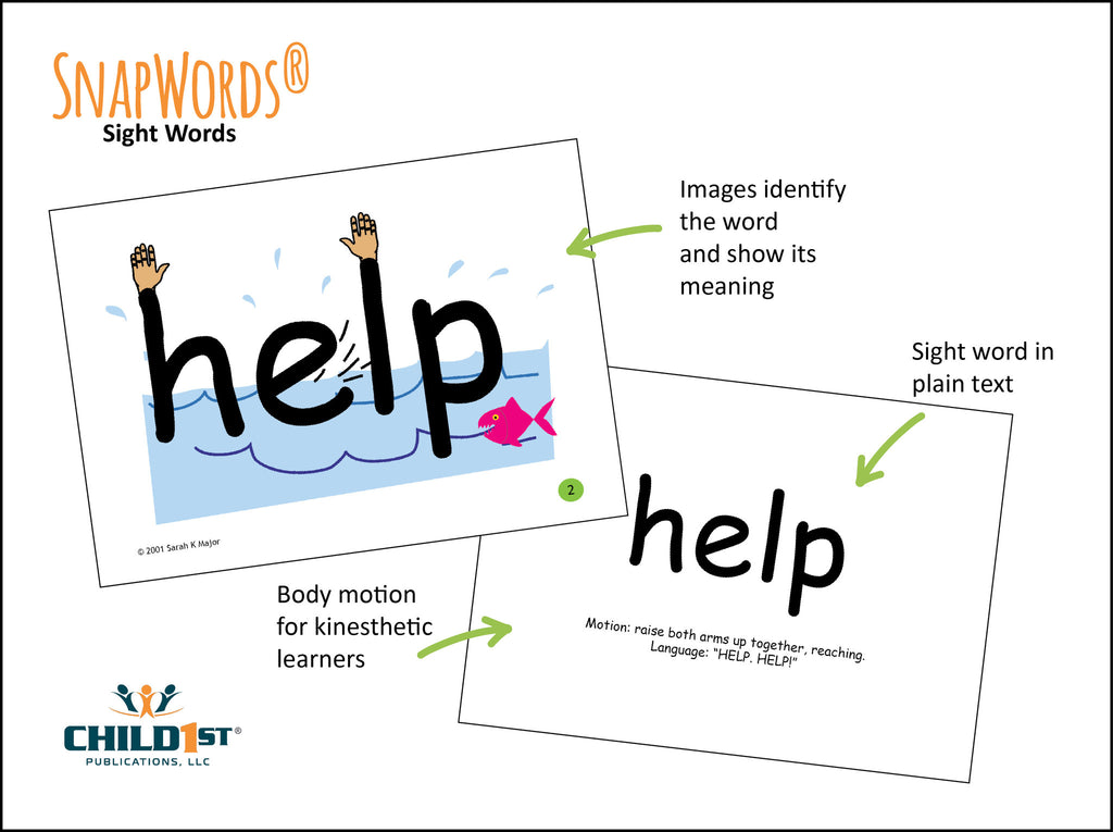 SnapWords® sight words with pictures and movement