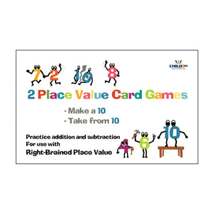 Right-Brained Place Value Add & Subtract 10s Cards