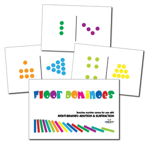 Right-Brained Addition & Subtraction Domino Cards