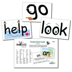 SnapWords® List  A Pocket Chart Cards Download