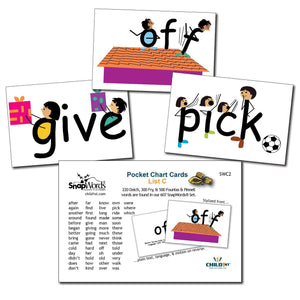 SnapWords® List C Pocket Chart Cards Download