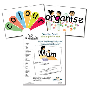 SnapWords® Global Expansion Pack Teaching Cards Download