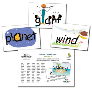 SnapWords® Nouns List 1 Pocket Chart Cards Download