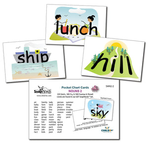 SnapWords® Nouns List 2 Pocket Chart Cards Download
