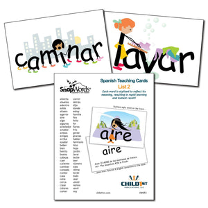 SnapWords® Spanish List 2 Teaching Cards Download