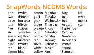 SnapWords® Numbers, Colors, Days, Months, & Seasons Teaching Cards Download