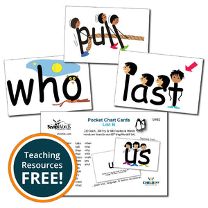 SnapWords® List B Pocket Chart Cards Download
