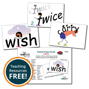 SnapWords® List E Pocket Chart Cards Download