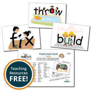 SnapWords® Verbs Pocket Chart Cards Download