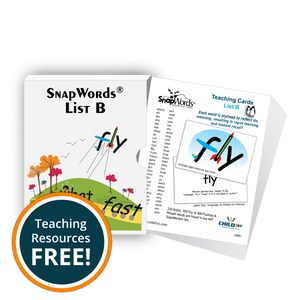 SnapWords® List B Teaching Cards Download