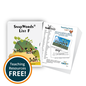 SnapWords® List F Teaching Cards Download