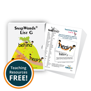 SnapWords® List G Teaching Cards Download