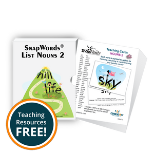 SnapWords® Nouns List 2 Teaching Cards Download