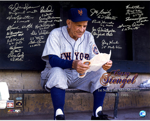 1962 New York Mets Multi-Signed Casey Stengel 16x20 Photo (20 Sigs) (No Sammy Taylor)