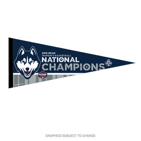 University of Connecticut 2016 Women's Basketball National Champions Premium Pennant by Wincraft