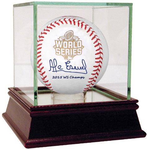 Alcides Escobar Signed 2015 World Series Baseball w/ '2015 WS Champs' Insc.