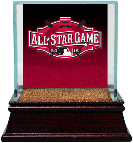 2015 All-Star Game Logo Glass Baseball Case w/ Game Used Dirt From Game