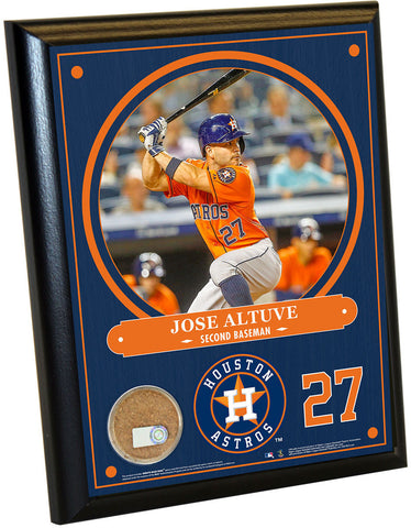 Houston Astros Jose Altuve 8x10 Plaque with Game Used Dirt from Minute Maid Park