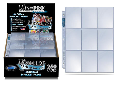 Ultra Pro 9 Pocket Page 250ct 25th Anniversary