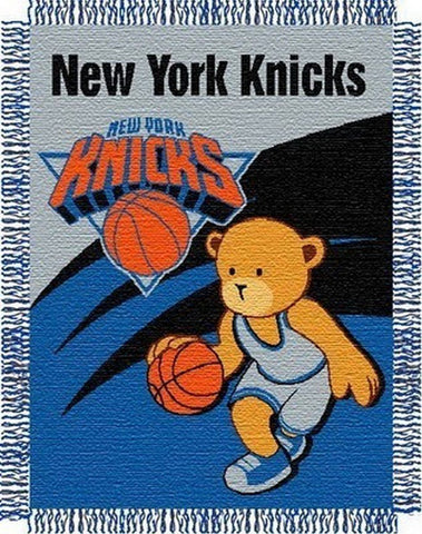 "New York Knicks 36""x48"" Woven Baby Throw Blanket"