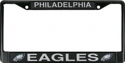 Philadelphia Eagles Black Chrome License Plate Frame