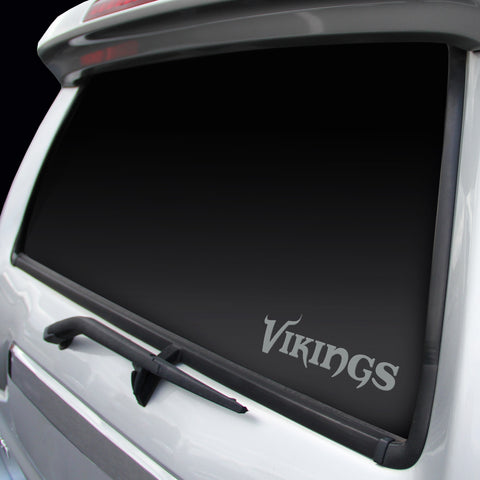 MInnesota Vikings Chrome Window Graphic Decal - Logo